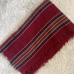 Aritzia Wilfred Striped Blanket Scarf - Burgundy